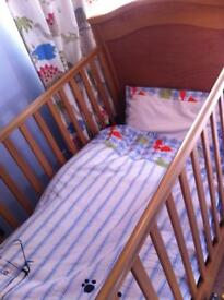 Cot bed for quick sale and mattress