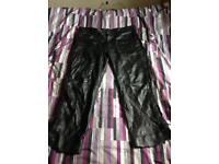 Leather trousers size 44 (xxl)