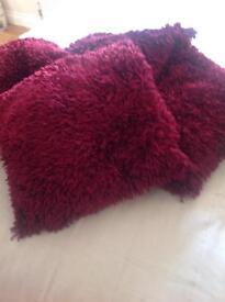 Four lovely fluffy cushions