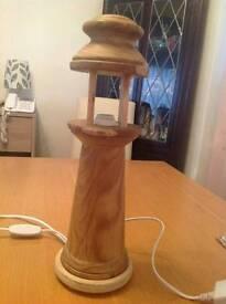 Beautiful hand made lighthouse lamp
