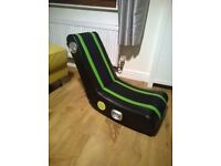 xrocker gaming chair green black as new.