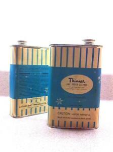 Litho-Art Products Vintage Paint Thinner Metal Containers