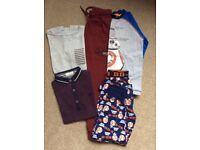 Boys Clothes. Star Wars BB-8 Pyjamas, T-Shirts From Jasper Conran & Next & 1 Pair of Joggers. 6-7Yr