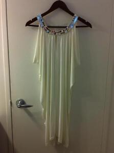 New Halter Dress with Silver Sequin Trim - Women's Large