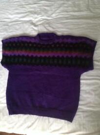 Short sleeved hand knitted jumper