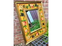 Hand painted antique mirror