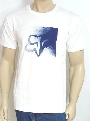 Fox Racing Scanner Tee Mens White Graphic T-Shirt New NWT