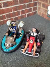 Bundle of action men hovercraft and go kart
