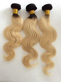 BRAZILIAN VIRGIN OMBRE AUBURN, PURPLE, DARK ROOT BLONDE, GREY CLOSURES) BODYWAVES AND STRAIGHT, 6A