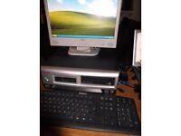 COMPAQ EVO PENTIUM 4 DESKTOP COMPUTER + MONITOR,KEYBOARD & MOUSE