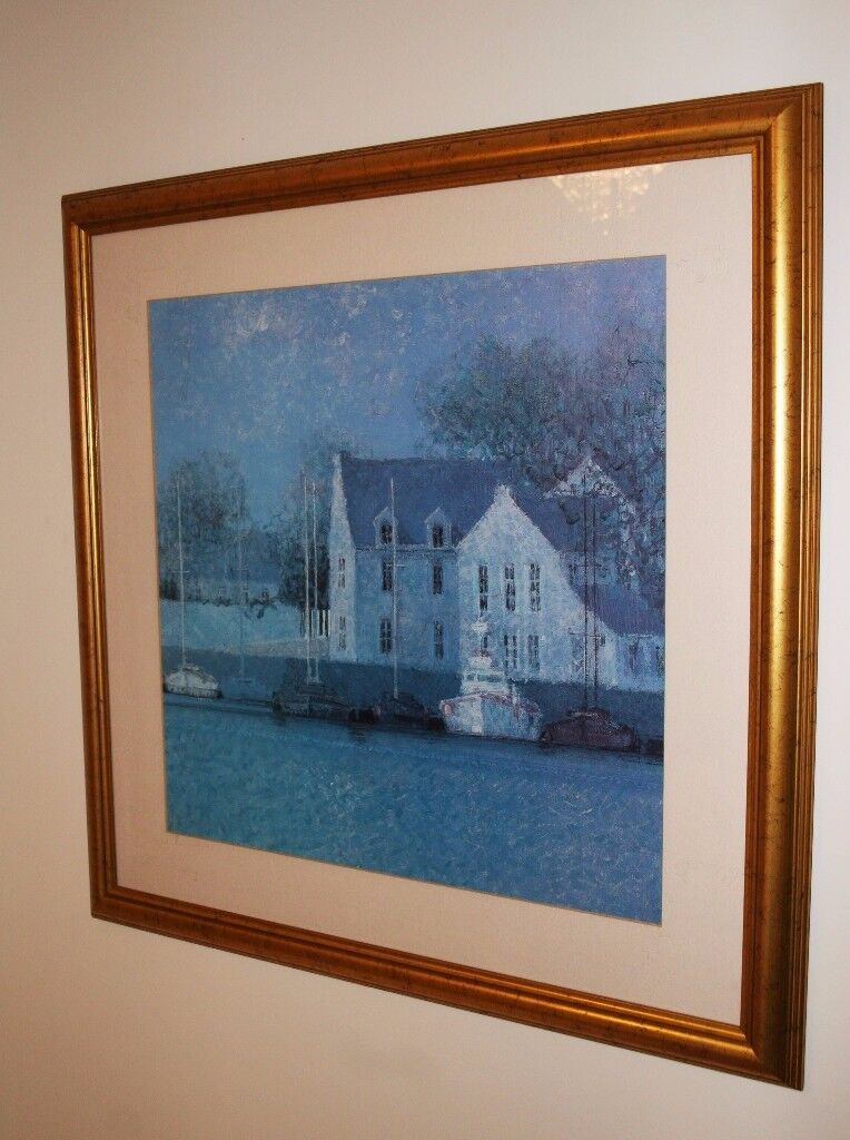 John Lewis Mill and Boat Print Picture