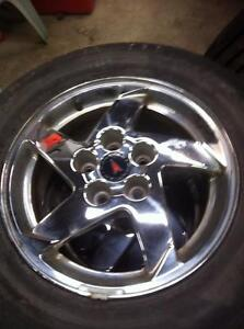 "4 - Pontiac Grand Prix 16"" Chrome Alloy Rims (5X115) with Excellent Hankook Optimo All Season Tires - 225/60 R16"