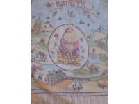 Cot quilt, cover & patterned cot quilt, nursery rhyme pattern