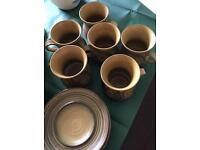 Alvingham Pottery coffee set