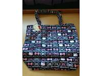Hello kitty black and pink tote bag