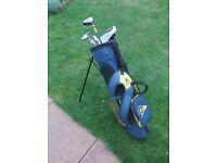 Dunlop Junior golf bag and clubs