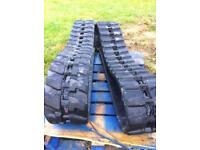 Pair Of Rubber Tracks To Fit Case/kubota Ck28 Kx71