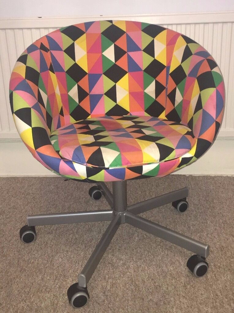Ikea Skruvsta Swivel Chair Majviken Multicolour In