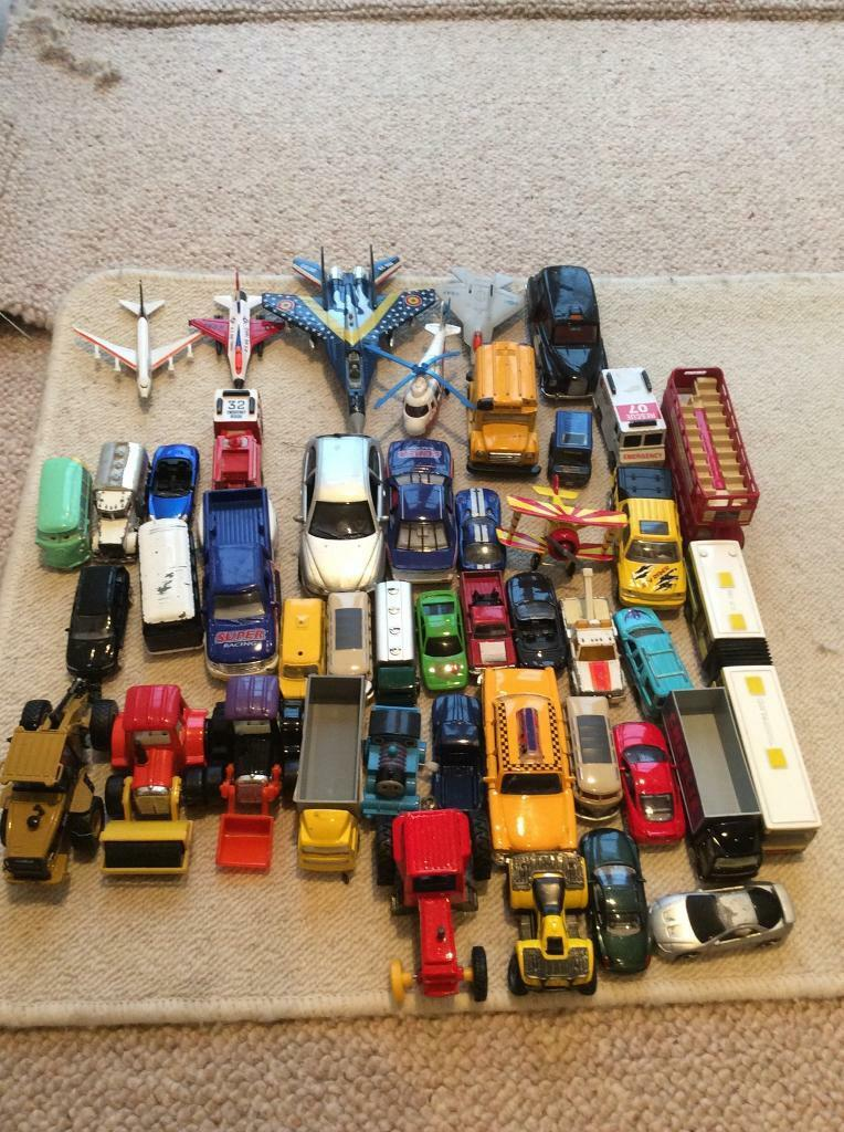 Selection of cars, planes and tractors