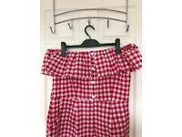 New Look Gingham Playsuit size 14/16