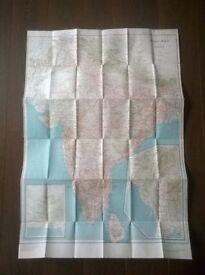 vintage ' map of india ' ( british raj )