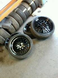 "19"" BBS 5x112 Alloys With Tyres"