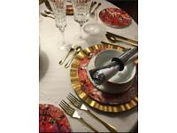 62 piece Designer Pied a Terre dinner set nearly new