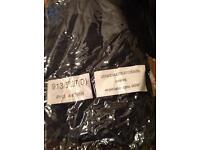 Black faux silk curtains - long