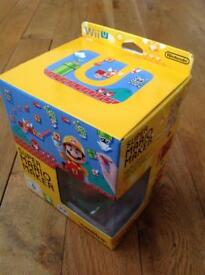 Super Mario Maker + Artbook + 8 bit Mario Amiibo Wii U Game Limited Edition New BNIB