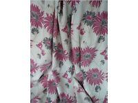 Laura Ashley Kimono full length curtains- Cranberry.