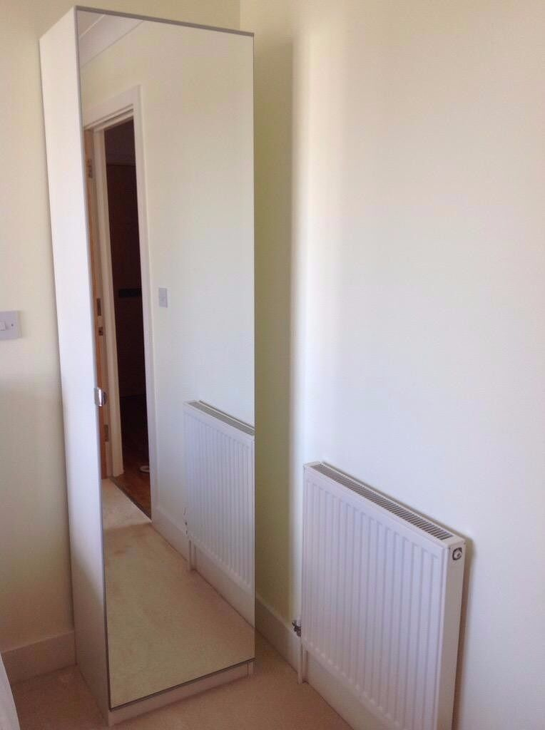 Ikea pax single mirror door wardrobe in oak finish in burwell cambridgeshire gumtree - Ikea armoire with mirror ...