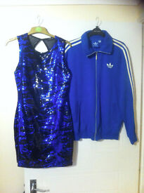 ADIDAS JACKET MEDIUM AND DRESS SIZE 12 BOTH WORN ONCE