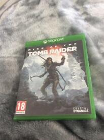 Xbox one game ,, rise of the tomb raider