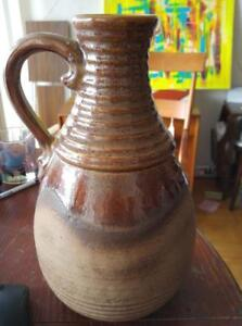 Oakville POTTERY West German MCM Retro Mid-Century 1960s Ceramics Clay Numbered Jug Brown Collectable Ceramic SCHEURICH