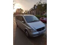 Mercedes-benz Viano 2.2 cdi Ambiente Extra Long.8 seats.Silver.Black Leather