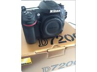 Nikon D7200 Digital SLR Camera (24.2 MP, Wi-Fi, NFC) 3.2-Inch LCD Screen Weather Proof