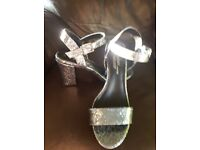 Glittery sandles size 7