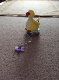 Pull along duck