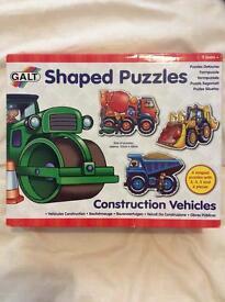 GALT construction vehicles shaped puzzles
