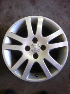 "4 - Honda Civic 15"" 4 Bolt Alloy Rims with Lug Nuts and Center Caps"