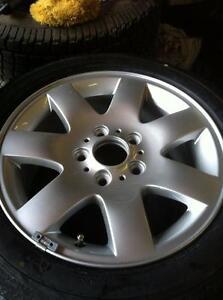 """1 - BMW Alloy 16"""" (5X120) Rim with New Goodyear Eagle All Season Tire - 205/55 R16"""
