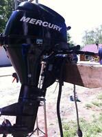 8 HP Mercury Outboard Boat Motor