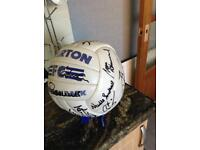 Signed Everton ball 80s