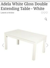 REDUCED!! NEED GONE ASAP!! BRAND NEW!! Adela White Gloss Dining Table!!