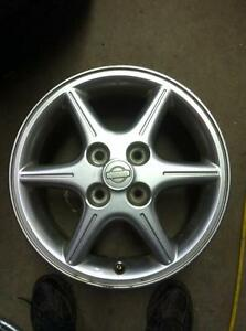 "4 - Nissan Sentra 16"" 4 Bolt Alloy Rims (4X114.3) with Center Caps"