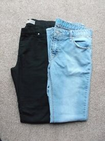 2 Pairs of Womens Skinny Jeans Size 10