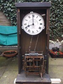 ANTIQUE GLEDHILL BROOK TIME RECORDER CLOCK CLOCKING IN MACHINE SIGNED DIAL