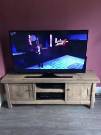 Tv cabinet, shelves and picture