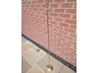 Brass standard lamp stand