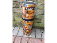 3 x Sadolin Extra Durable Woodstain Antique Pine.